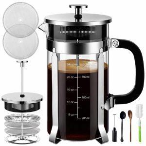Veken French press coffee maker bundle