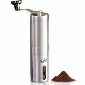 JavaPresse stainless steel compact manual burr coffee grinder