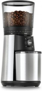 OXO BREW Conical Burr Coffee Grinder Silver and Black