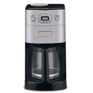 Cuisinart DGB-625BC Grind & Brew coffee maker with a grinder, black and silver design