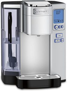 Cuisinart SS-10P1 Premium Single-Serve Coffee Maker, plastic housing with a silver look