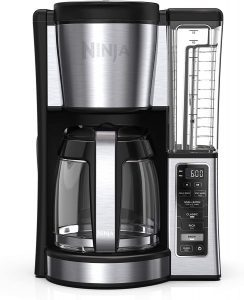 Ninja CE251 Programmable Coffee maker with a glass carafe and removable water tank