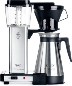Technivorm Moccamaster 79112 KBT Coffee Brewer with thermal carafe, polished silver finish
