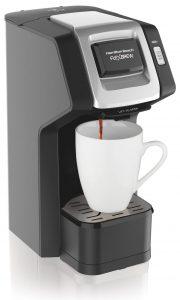 Hamilton Beach FlexBrew Single Serve Coffee Maker, black and silver