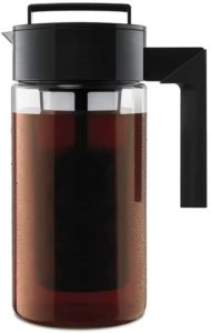 Takeya Deluxe Cold Brew Coffee Maker With Black Handle and Top
